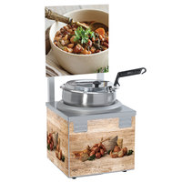 Nemco 6510A-S7 Single Well 7 Qt. Soup Warmer with Header - 120V, 550W