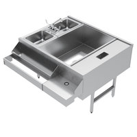 Advance Tabco CR-42X36-7-R Stainless Steel Pass-Through Workstation (Right Side Ice Bin)