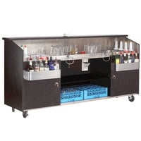 Advance Tabco R-8-B High Volume Portable Bar with Stainless Steel Work Area - 95 3/4 inch x 24 1/2 inch
