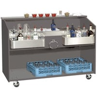Advance Tabco D-B Portable Bar with Stainless Steel Work Top - 61 inch x 24 1/2 inch
