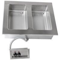 Advance Tabco DISW-2-120 Stainless Steel Two Well Drop-In Sealed Electric Unit - 120V