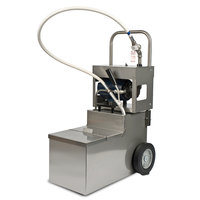 MirOil MOD 1550 200 lb. Fryer Oil Electric Filter Machine and Discard Trolley - Drain Valve 120V