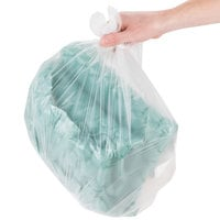 Inteplast Group S242408N 7-10 Gallon 8 Micron 24 inch x 24 inch High Density Can Liner / Trash Bag - 1000/Case