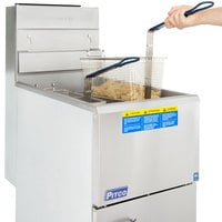 Pitco® 45C+S Natural Gas 42-50 lb. Stainless Steel Floor Fryer