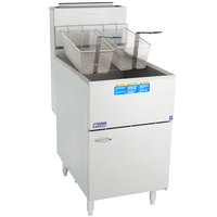 Pitco® 65C+S Liquid Propane 65-80 lb. Stainless Steel Floor Fryer