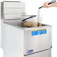 Pitco® 35C+S Natural Gas 35-40 lb. Stainless Steel Floor Fryer