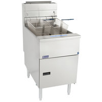 Pitco® SG18-S Liquid Propane 75 lb. Stainless Steel Floor Fryer