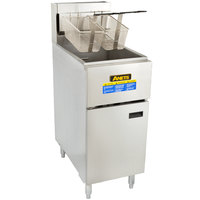 Anets SLG50 NAT SilverLine 40-50 lb. Natural Gas Stainless Steel Floor Fryer