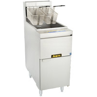Anets 14GS Natural Gas 35-50 lb. GoldenFry Standard Fryer - 111,000 BTU