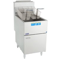 Pitco® 65C+S Natural Gas 65-80 lb. Stainless Steel Floor Fryer