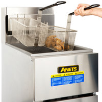 Anets SLG50 LP SilverLine 40-50 lb. Liquid Propane Stainless Steel Floor Fryer
