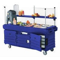 Cambro KVC856186 CamKiosk Navy Blue Vending Cart with 6 Pan Wells