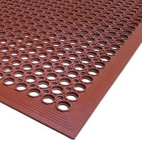 Cactus Mat 2522-R20 VIP TopDek Senior 3' x 19' 6 inch Red Heavy-Duty Grease-Resistant Anti-Fatigue Floor Mat - 1/2 inch Thick