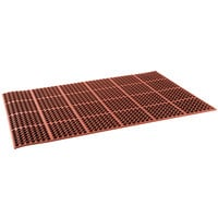 Cactus Mat 2521-R1S VIP Lite 58 1/2 inch x 39 inch Red Grease-Resistant Rubber Anti-Fatigue Floor Mat - 1/2 inch Thick