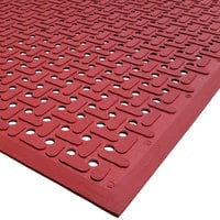 Cactus Mat 2540-R15 VIP Guardian 3' x 15' Red Grease-Proof Anti-Fatigue Floor Mat - 1/4 inch Thick