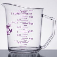 Cambro 50MCCW441 Camwear 1 Pint Purple Polycarbonate Measuring Cup