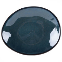 Tuxton GAN-651 TuxTrendz Artisan Night Sky 8 1/4 inch x 10 inch Ellipse China Plate - 12/Case