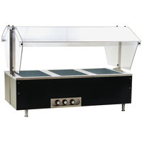 Eagle Group CDHT3 Deluxe Service Mates Three Pan Open Well Tabletop Hot Food Buffet Table with Enclosed Base - 240V, 1 Phase
