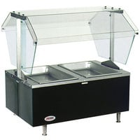 Eagle Group CDHT2 Deluxe Service Mates Two Pan Open Well Tabletop Hot Food Buffet Table with Enclosed Base - 240V, 3 Phase