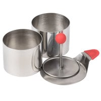 Ateco 4950 2 3/4 inch x 2 inch Stainless Steel 4-Piece Round Molding Kit