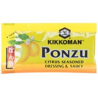Kikkoman Ponzu Citrus Seasoned Dressing & Sauce 6 mL Packet - 500/Case