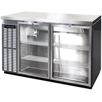 Continental Refrigerator BB50NSSGD 50 inch Stainless Steel Glass Door Back Bar Refrigerator