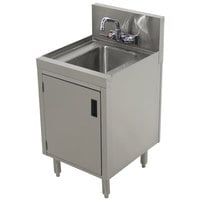 Advance Tabco PRHSC-19-12 Prestige Series Stainless Steel Underbar Hand Sink with Cabinet Base - 20 inch x 12 inch