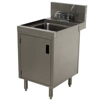 Advance Tabco PRHSC-24-18 Prestige Series Stainless Steel Underbar Hand Sink with Cabinet Base - 25 inch x 18 inch