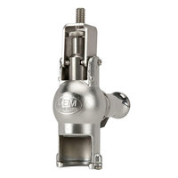 Micro Matic GR-F Type 316 Stainless Steel Beer Growler Filler with Stainless Steel Lever - Matte Stainless Steel Finish