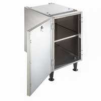 Scotsman HST16-A 16 1/2 inch x 23 3/4 inch Enclosed Stainless Steel Ice Dispenser Stand with Door