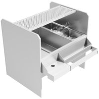 Advance Tabco PR-44X30SP-10-L Prestige Series Stainless Steel Pass-Through Workstation with Perforated Drainboard Shelf - (Left Side Ice Bin)