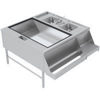 Advance Tabco PR-42X42-10-L Prestige Series Stainless Steel Pass-Through Workstation - (Left Side Ice Bin)