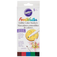 Wilton 609-105 FoodWriter Extra Fine Tip Edible Accent Color Markers - 5/Pack
