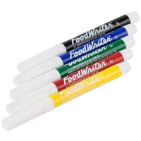 Wilton 609-115 FoodWriter Bold Tip Edible Primary Color Markers - 5/Pack