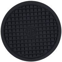 American Metalcraft TRVR5 5 inch Round Heat-Resistant Black Silicone Trivet