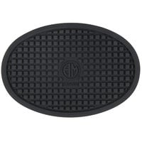 American Metalcraft TRV053 5 1/2 inch x 3 3/4 inch Oval Heat-Resistant Black Silicone Trivet