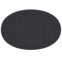American Metalcraft TRV085 8 3/4 inch x 5 7/8 inch Oval Heat-Resistant Black Silicone Trivet