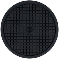 American Metalcraft TRVR675 6 3/4 inch Round Heat-Resistant Black Silicone Trivet