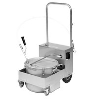 MirOil BS505D 55 lb. Fryer Oil Electric Filter Machine and Discard Trolley - Floor and Countertop