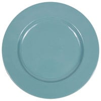 Elite Global Solutions D1025C Cottage Vintage California 10 1/2 inch Cameo Blue Round Rim Melamine Plate - 6/Case