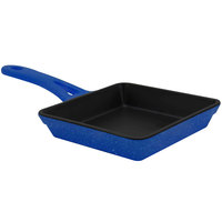 Elite Global Solutions MFP55-BC Base Camp 5 3/8 inch Blue Speckle Faux Cast Iron Skillet - 6/Case