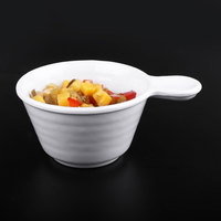 Elite Global Solutions D42RR Pebble Creek White 10 oz. Handled Bowl - 6/Case