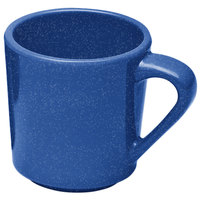 Elite Global Solutions DC14-BC Base Camp Blue Speckle 14 oz. Melamine Mug - 6/Case