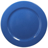 Elite Global Solutions D775PL-BC Base Camp 7 3/4 inch Blue Speckle Round Melamine Plate - 6/Case