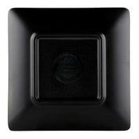 Elite Global Solutions JW552T Karma 5 inch Ebony Sand Square Two-Tone Melamine Plate - 6/Case