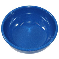 Elite Global Solutions D512B-BC Base Camp 18 oz. Blue Round Speckle Bowl - 6/Case