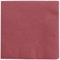 Creative Converting 573122B Burgundy 3-Ply Beverage Napkin - 500/Case