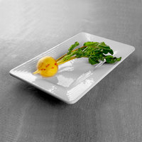 Elite Global Solutions M915RR-W Pebble Creek White 9 inch x 15 inch Rectangular Tray