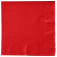 Creative Converting 571031B Classic Red 3-Ply Beverage Napkin - 500/Case