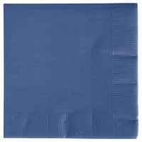 Creative Converting 571137B Navy Blue 3-Ply Beverage Napkin - 500/Case
